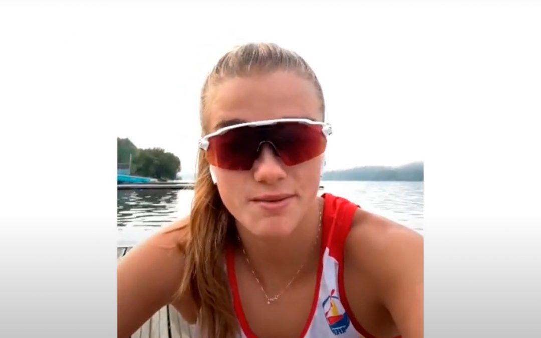 La piragüista Carla Vey usa Spodha en sus entrenamientos